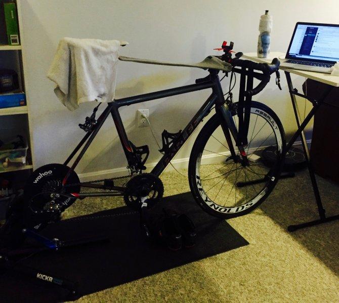 Zwift Wahoo Kickr Basement Trainer Setup Bike Noob